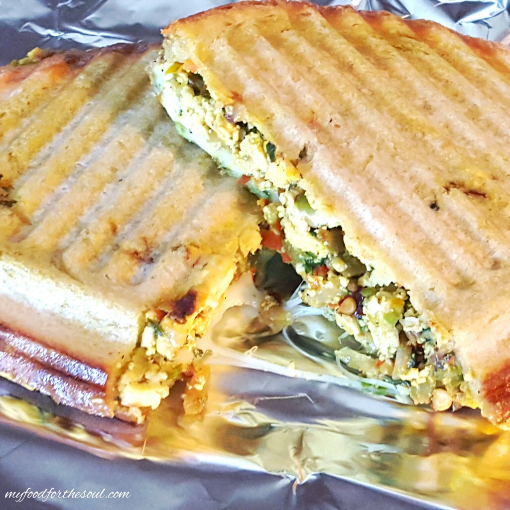 Grilled Scrambled Tofu Veggie Sandwich | My Food for the Soul