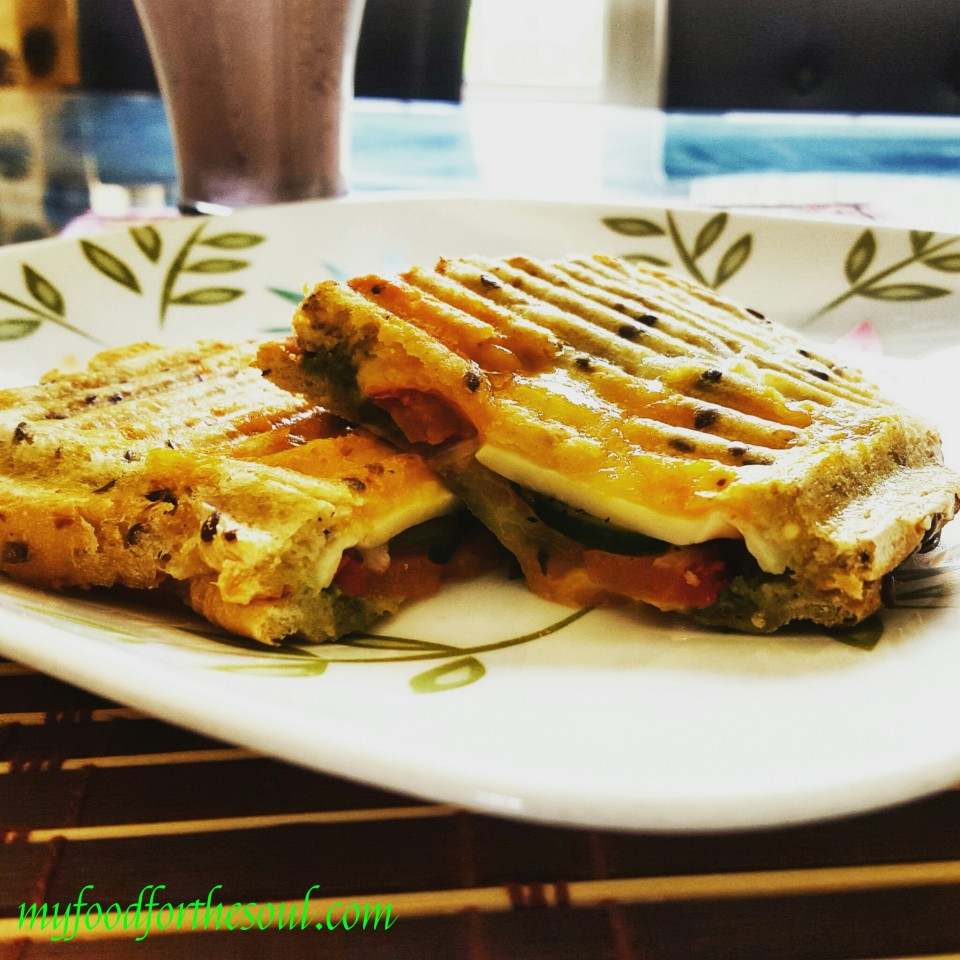 Double Cheese Toasted Coriander Chutney Sandwich | My Food for the ...